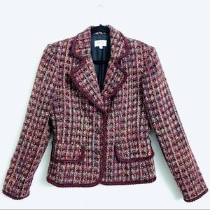 📌 Neiman Marcus Silk & Wool Blend Tweed Blazer